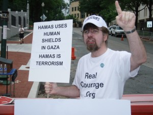 R.E.A.L.'s Jeffrey Imm challenges HAMAS' oppression and terrorist activities leading to bloodshed in Gaza