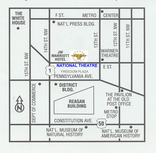 Map of the Area Around Freedom Plaza