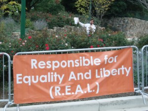 Responsible for Equality And Liberty (R.E.A.L.) Protest at DC PRC Embassy