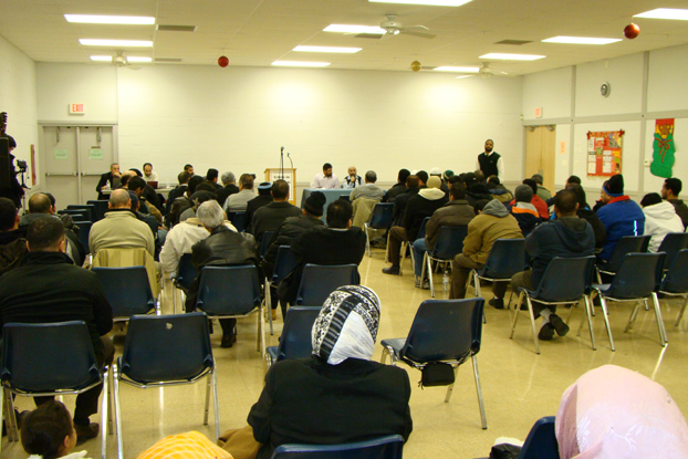 Anti-Democracy Hizb ut-Tahrir America December 20, 2009 Meeting at Govt-Managed Facility in Lombard, Illinois -- Women Segregated and Only Permitted to Sit in the Back of the Room
