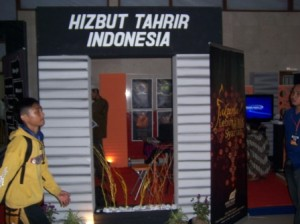 Extremist Hizb ut-Tahrir Indonesia (HTI) Booth at Indonesian Government-Sponsored Event