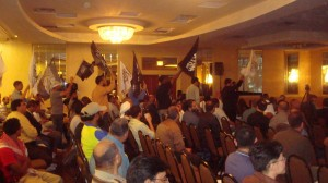 Hizb ut-Tahrir Members Wave Black Flag of Extremist Caliphate