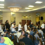July 19, 2009 - Chicago: R.E.A.L.'s Jeffrey Imm Waiting to Question Hizb ut-Tahrir Leaders at Conference