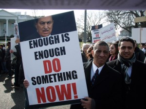 National American Coptic Assembly's Morris Sadek at January 21, 2010 White House Rally