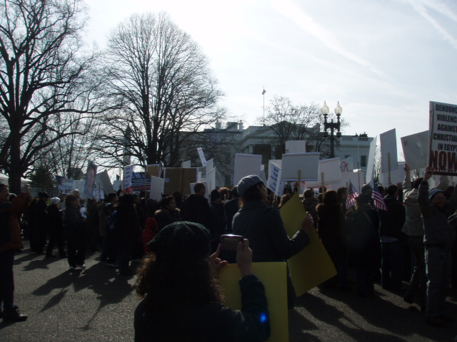 Copts Marching in front of the White House