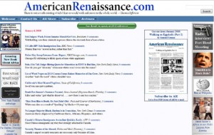 "Web Image from ""White Nationalist"" Hate Group American Renaissance"