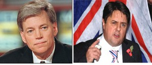 David Duke (left) and Nick Griffin (right) - Appeared at White Supremacist Event Attended by Terrorist Von Brunn (Duke Photo by Richard Ellis/Getty Images; Griffin Photo by Mirror.co.uk)
