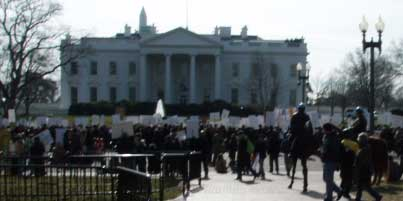 January 21, 2010 - Over 1500 rally in front of the White House in the aftermath of the Coptic Christmas eve killings of Copts in Egypt