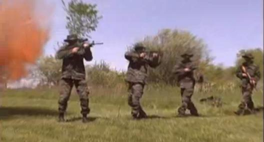 Hutaree Militia Training with Automatic Rifles (Photo: YouTube)