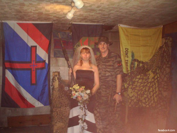 Hutaree Militia Couple -- Arrests for Terror Plot Against Police (Gadsden Flag on Right)