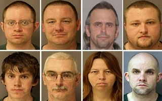 Eight Hutaree Christian Militia Indicted Members: Top row, from left, are Joshua Clough, Michael Meeks, Thomas Piatek and Kristopher Sickles. Bottom row, from left, are David Stone Jr., David Stone Sr., Tina Stone and Jacob Ward. (Photos from U.S. Marshals Service)