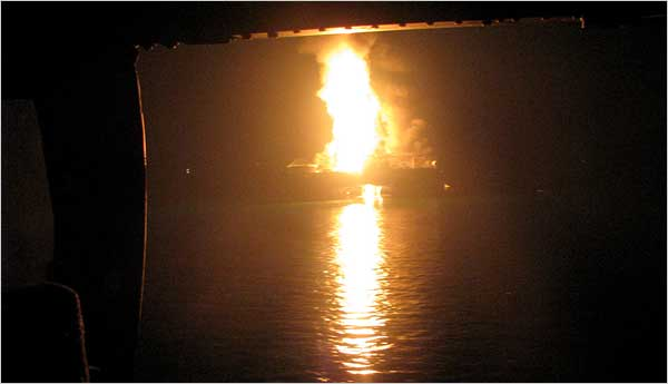 Louisiana: Oil Rig Explosion Cheered On by Westboro Baptist Church Hate Group (Photo: U.S. Coast Guard)