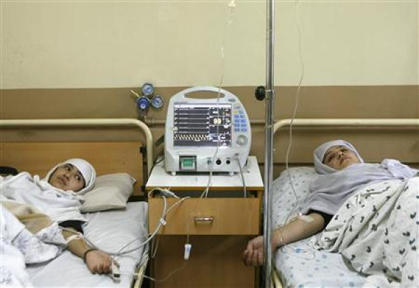 Afghanistan: Girls recovering from poison gas attack (Photo: Reuters/Mohammad Ishaq)