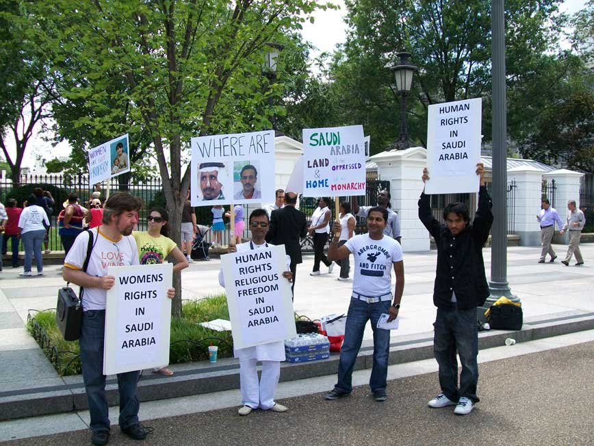 June 29, 2010: Demonstrators Protesting for Women's Rights, Religious Freedom in Saudi Arabia Outside White House
