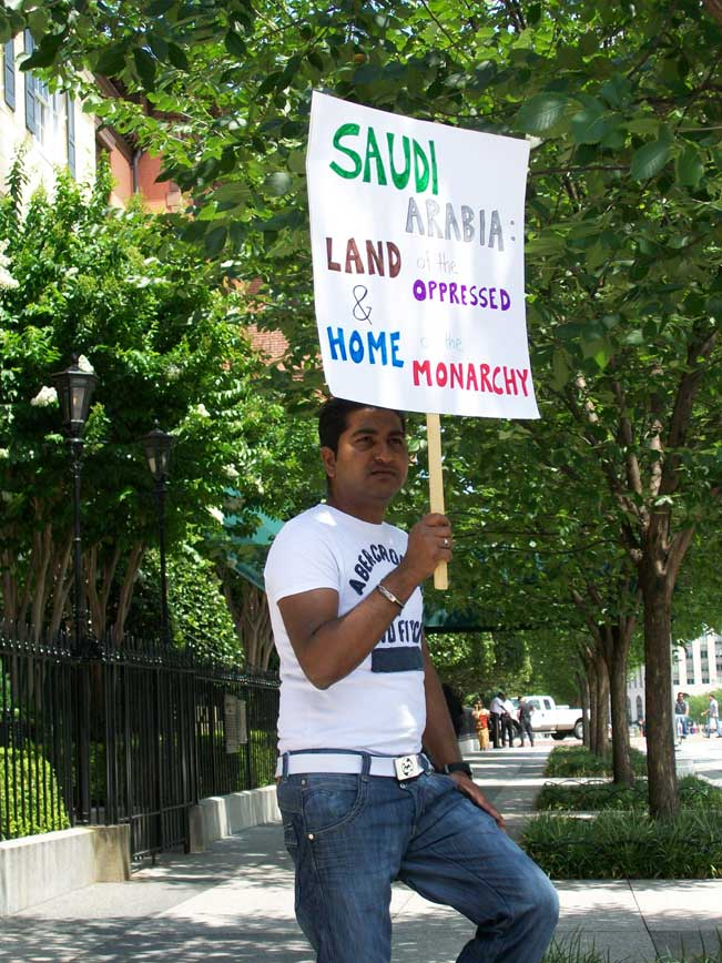 June 29, 2010 - Human Rights Activist Demonstrating Outside Blair House