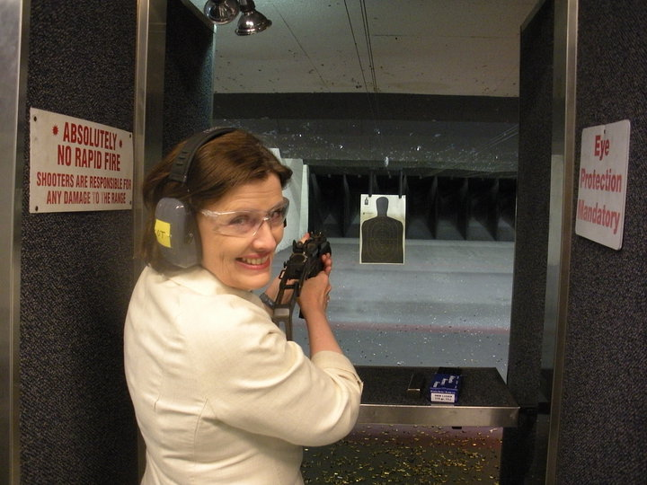 6th Congressional Candidate Zelenik Poses with Automatic Weapons in Showing Her Support for the NRA (Photo: Facebook)