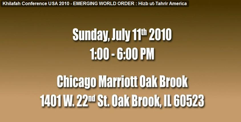 Hizb ut-Tahrir America Widely Promoted the Chicago Marriott Oak Brook as Planned Conference Site - Before It Was Canceled (Photo: YouTube)