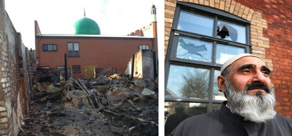 UK Mosque in Cradley (Photo: Express & Star) -- UK Mosque in Eccles (Photo: Manchester Evening News)