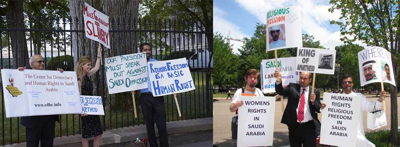 June 29, 2010 - White House Demonstrators from CDHR, IIC, The Gulf Institute, and R.E.A.L
