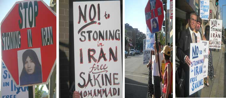 July 2, 2010: Washington DC - Activists Protest outside of the Islamic Republic of Iran's Interest Section of the Pakistan Embassy