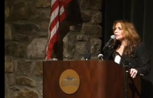 SIOA and Mosque Protest Leader Pamela Geller at Tennessee Tea Party Meeting (Photo: YouTube)