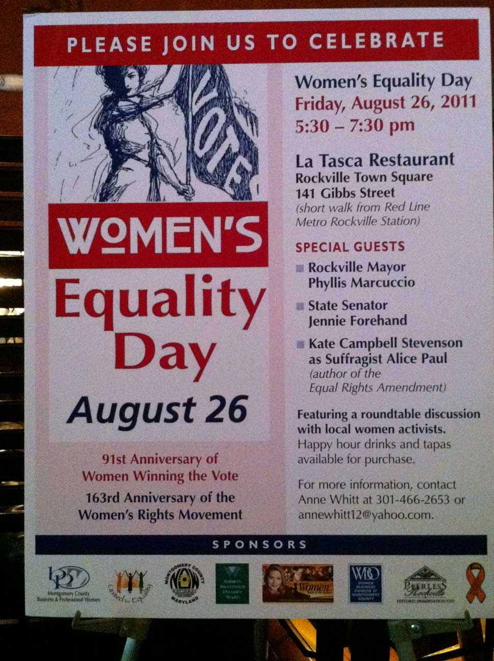 Women's Equality Day Event: DC Area Gathering