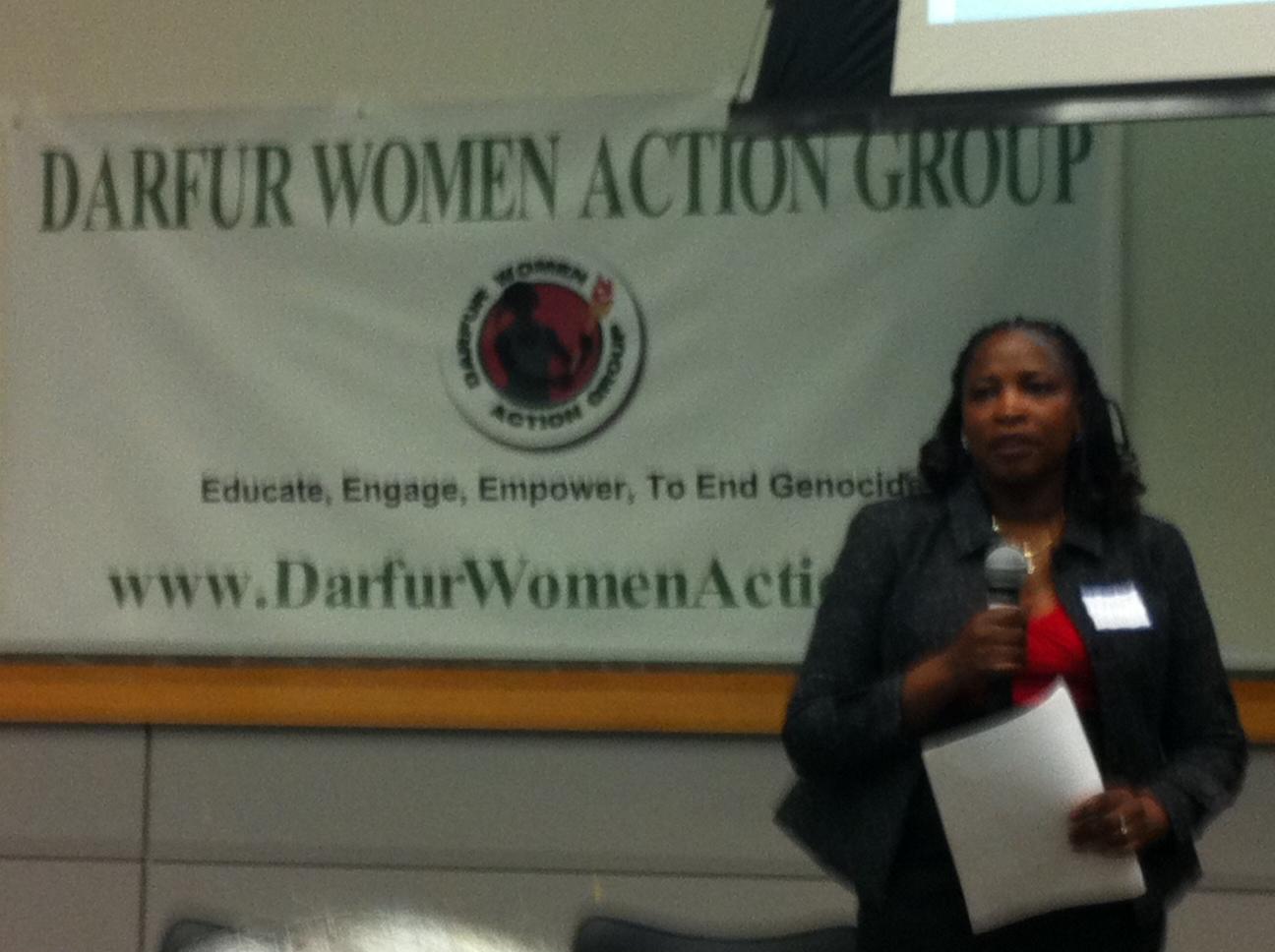 "Darfur Women Action Symposium Promotes Women's Dignity, Rights – ""It's Not Over"" in Darfur"