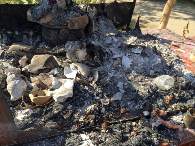 Pakistan's Sindh: Remnants of Hindu Shrine Burned Down in Tando Mohammad Khan area