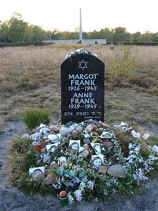 Anne Frank Memorial at Remains of Bergen-Belsen Concentration Camp