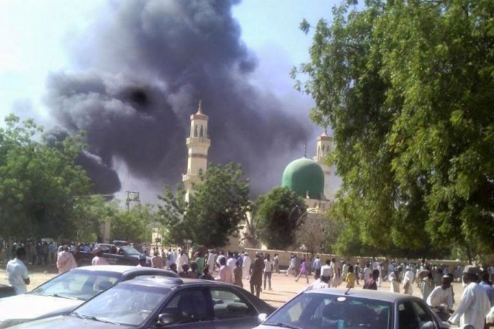 Nigeria - Kano Mosque burning from Boko Haram Terrorist Attack - Nigeria Mosques Attacked by Boko Haram Terrorist Group - Men and Boys Killed and Corpses Burned