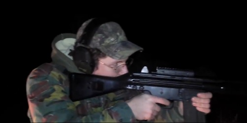 Nathan Gustavsson-Shooting an Automatic Weapon (Source: Twitter Video Screenshot)