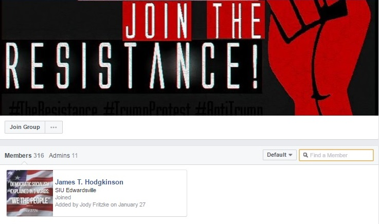 Anti-Government Political Extremist Group Supported by Terrorist James T. Hodgkinson (Facebook)