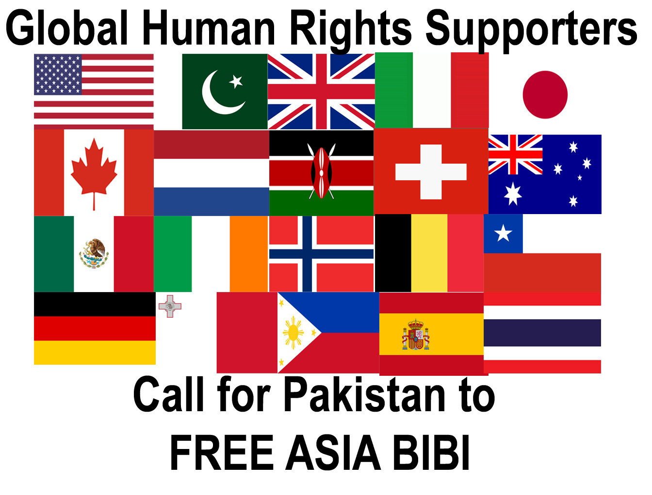 Global Human Rights Supporters Call for Freedom of Pakistan